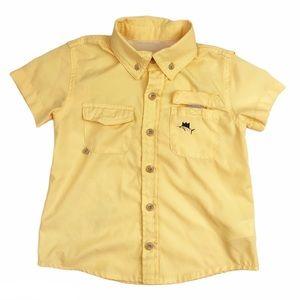 Crown & Ivy Short Sleeve Fishing Shirt Yellow 2T